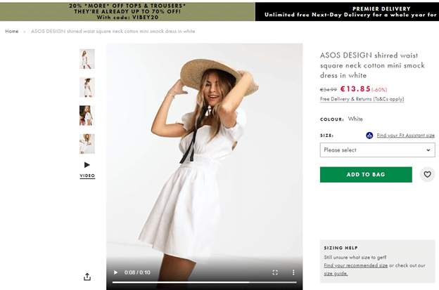 engaging ecommerce store